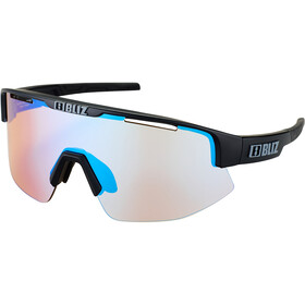 Bliz Matrix M12 Glasses matt black/orange with blue multi nordic light